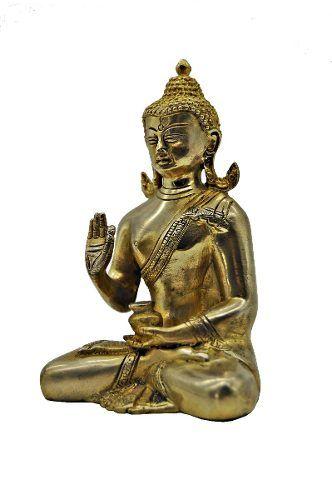 Escultura De Sidarta Gautama em bronze