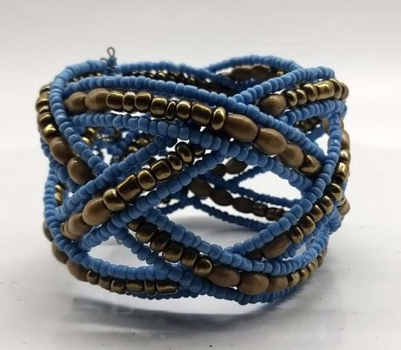 BRACELETE DE  MISSANGAS Blue involved