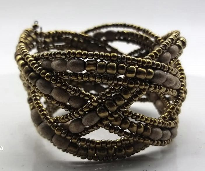 BRACELETE DE  MISSANGAS Golden Intertwined