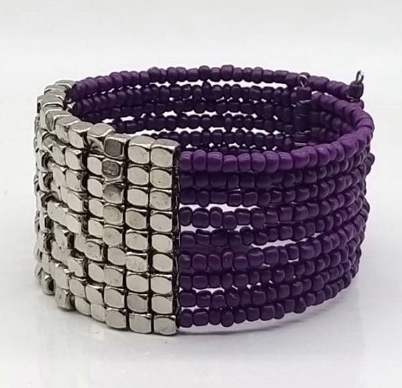 BRACELETE DE  MISSANGAS Purple Panel