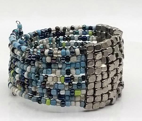 BRACELETE DE  MISSANGAS Blue Beads