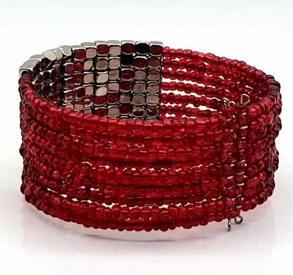 BRACELETE DE  MISSANGAS Red Beads