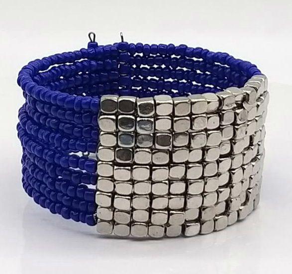 BRACELETE DE  MISSANGAS Blue Silver
