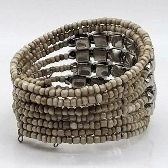 BRACELETE DE  MISSANGAS Beige Beads