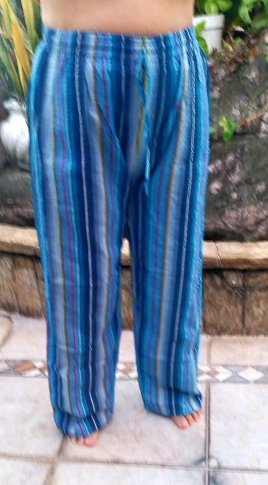 Calça Pocket  Listrada Blue