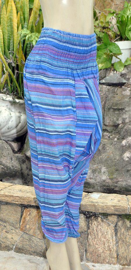 Calça Saruel Blue Strips