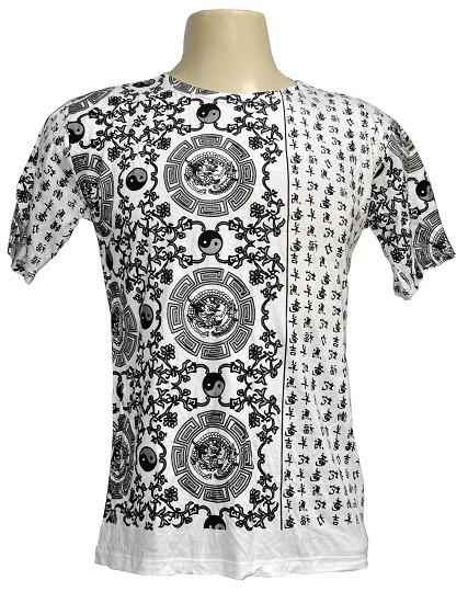 Camiseta modelo white yin yang