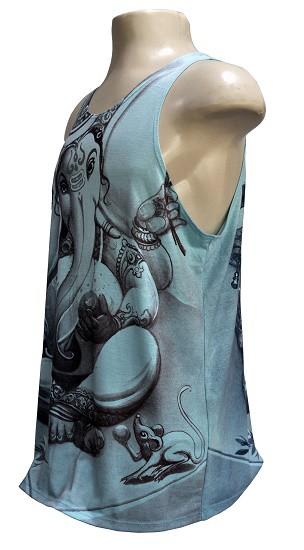 Camiseta regata modelo ganesha blue