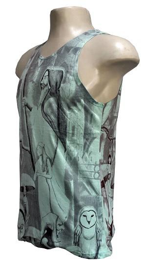 Camiseta Regata modelo  mago blue