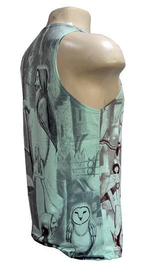 Camiseta regata modelo mago green