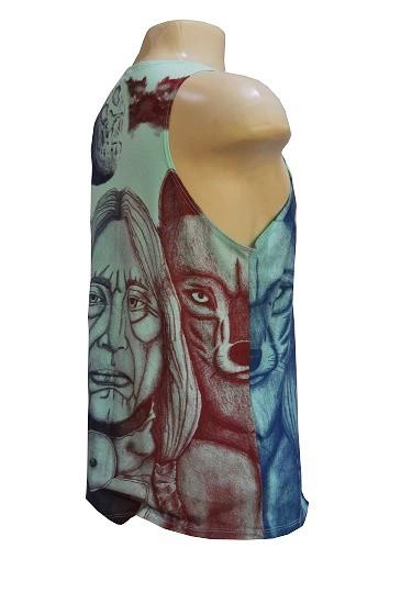Camiseta regata modelo old indian