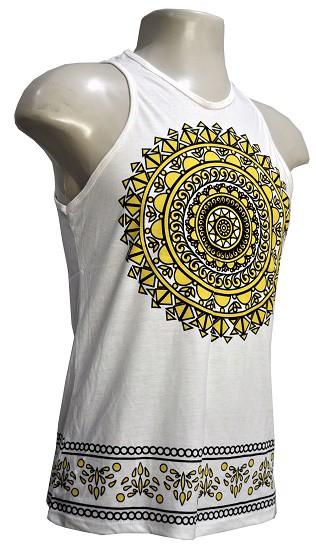 Camiseta Regata modelo wellow mandala