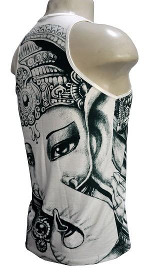 Camiseta Regata modelo white ganapathi
