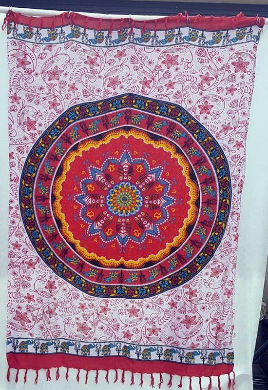 Canga indiana Mandala Vermelha