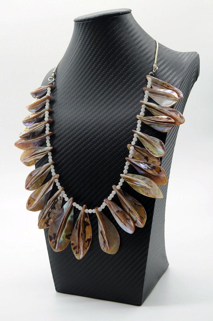 colar em concha marinha