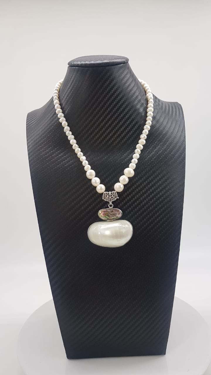 Colar Indiano Orb Pearl
