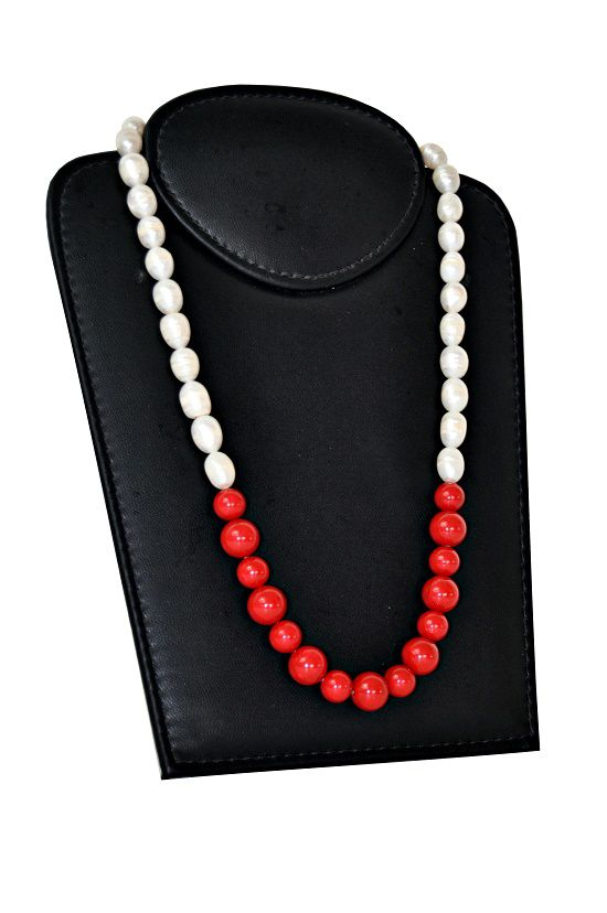 Colar Indiano Red Pearl 2