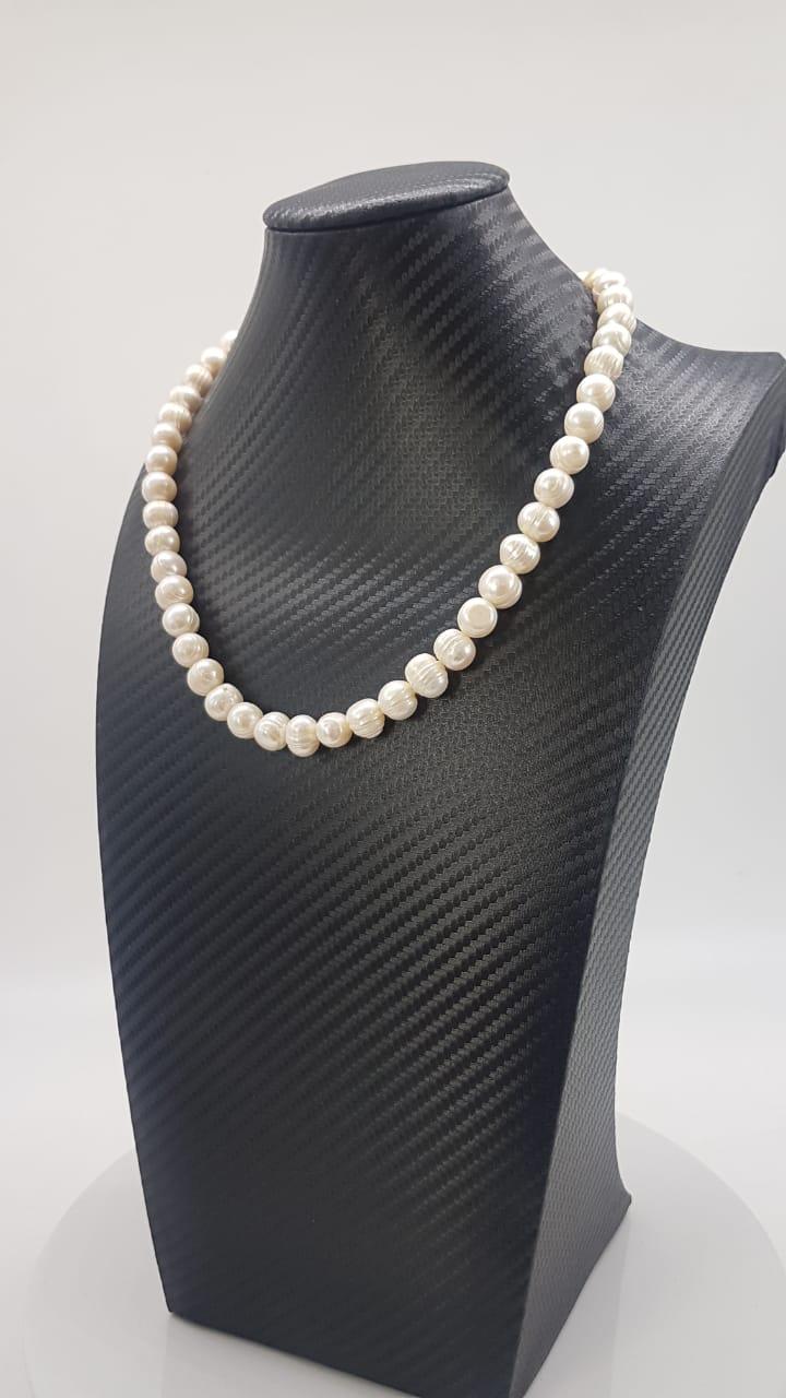 Colar Indiano White Pearl