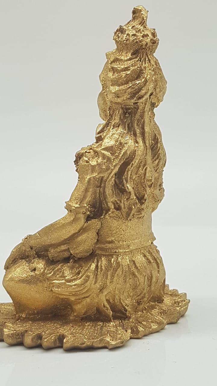 Escultura de Shiva em resina Golden