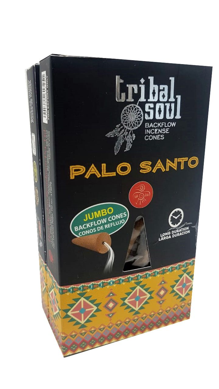 Kit 3 Incensos Tribal Palo Santo + Incensário Cascata Buda