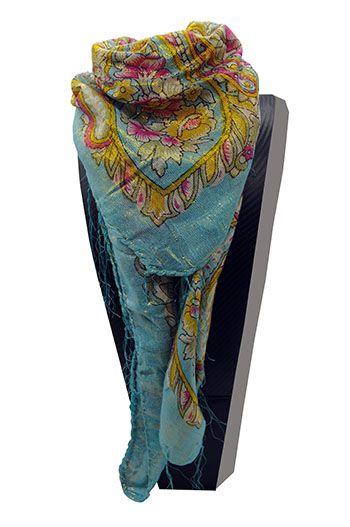 lenço cigano azul celeste