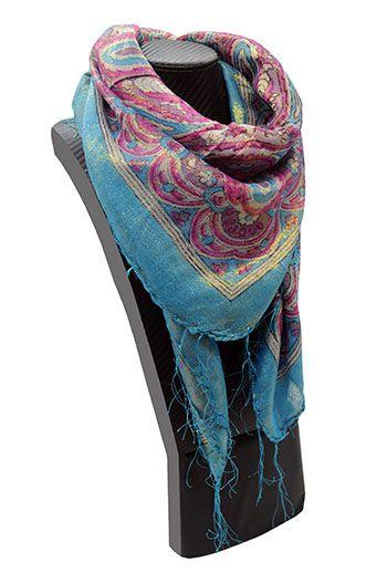 lenço cigano azul floral