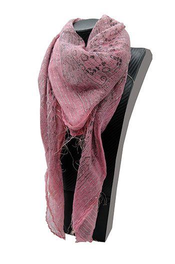 Lenço indiano em lurex rosa