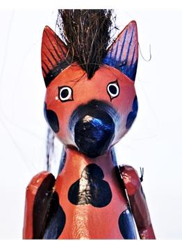 Marionete de Cavalo em madeira