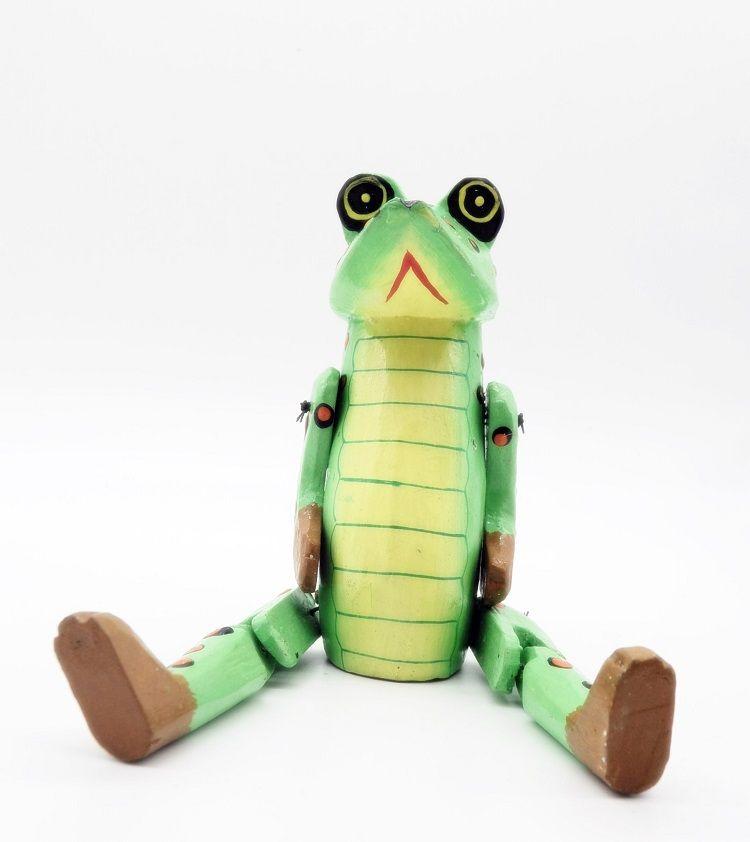 Marionete de Sapo em madeira