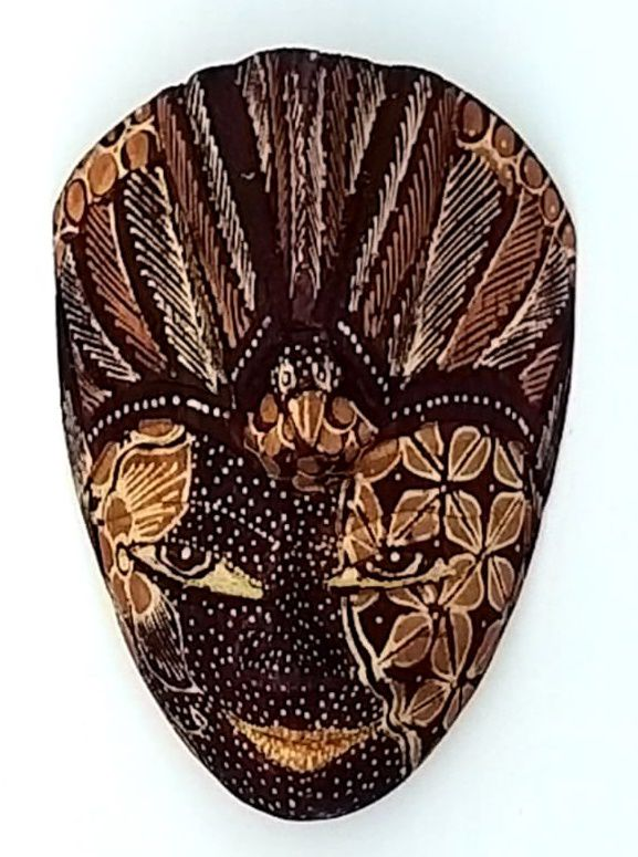 Mascara Batik Pequena Beige Black