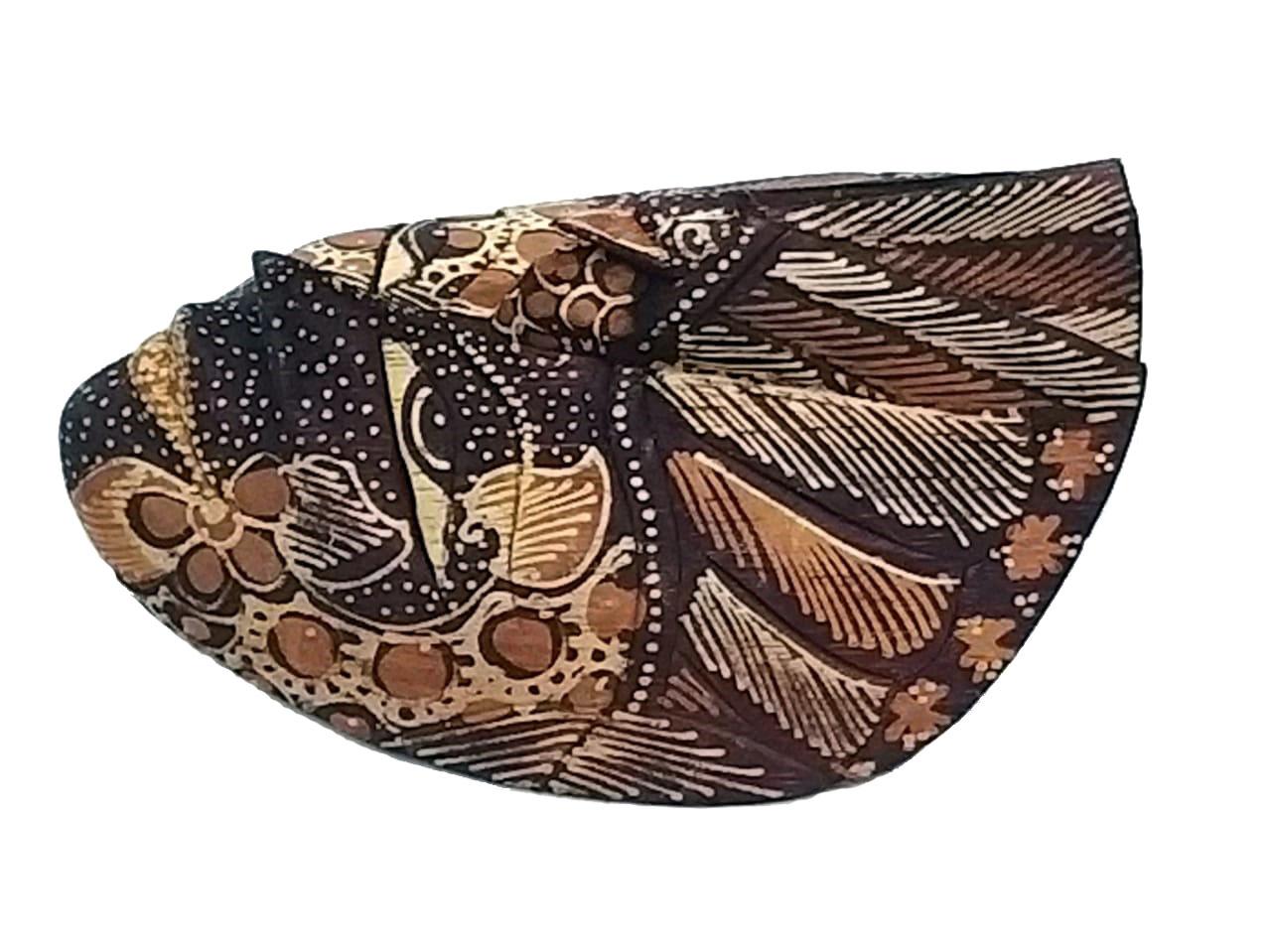 Mascara Batik Pequena Beige Abstract