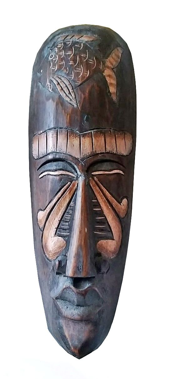 Mascara Tribal Animais Seafish 30 cm