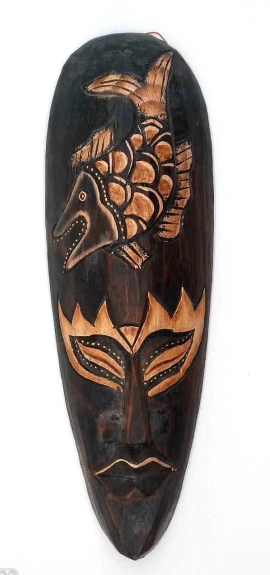 Mascara tribal Animais Fish 30 cm