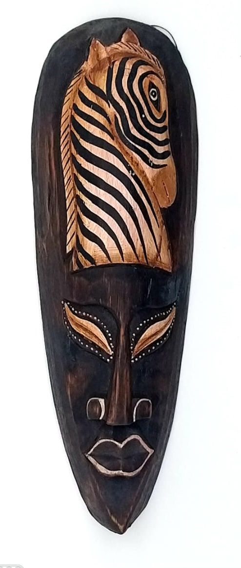 Mascara tribal Animais 30cm