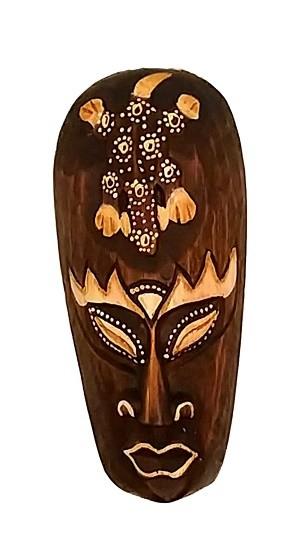 Mascara tribal Animais  GEGKO 20 cm