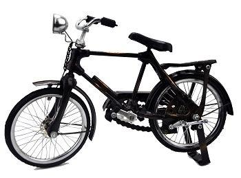 miniatura de bicicleta em metal