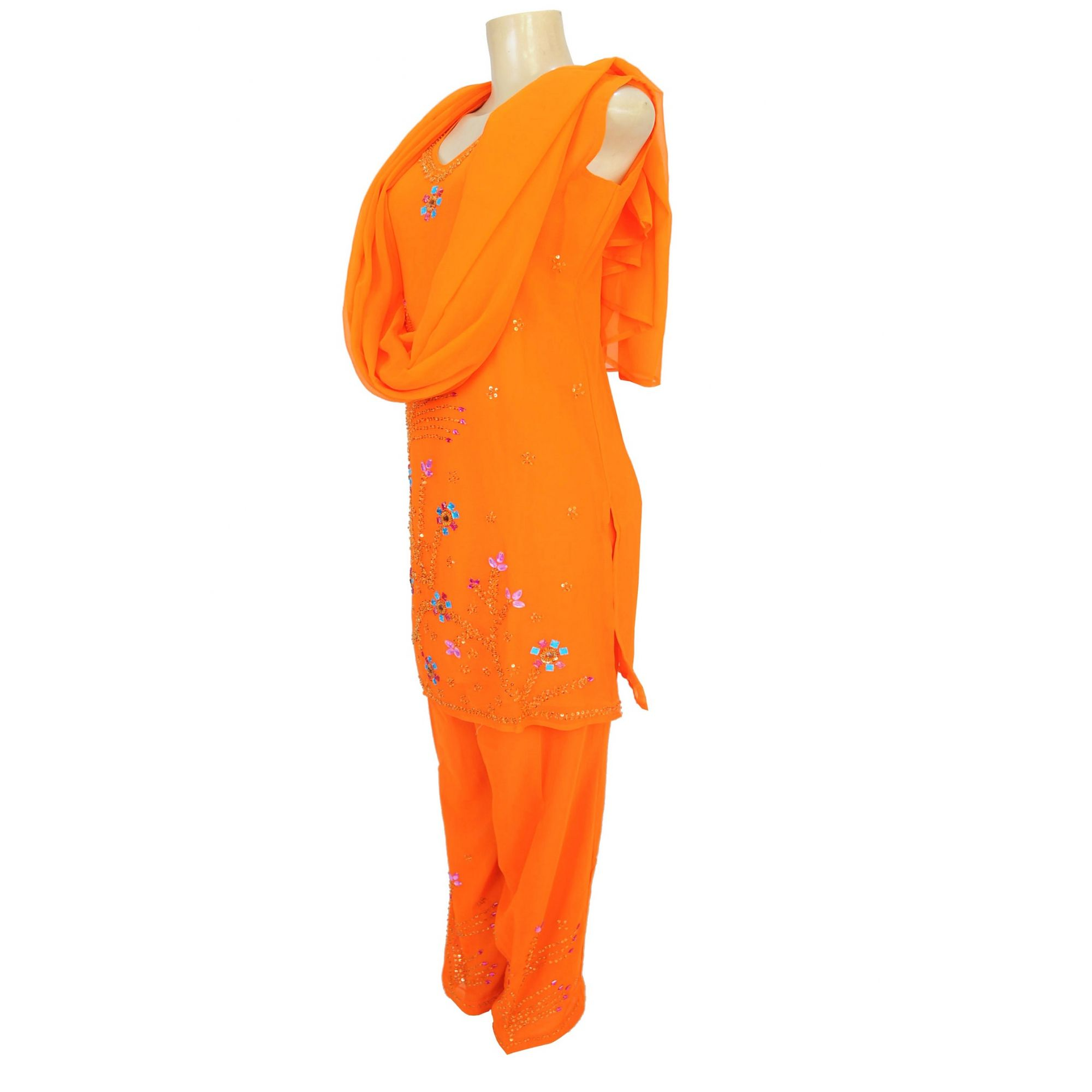 Panjabi Indiano Totally Orange