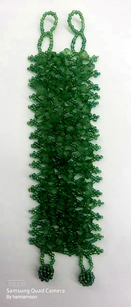 Pulseira Balinesa Green Stone