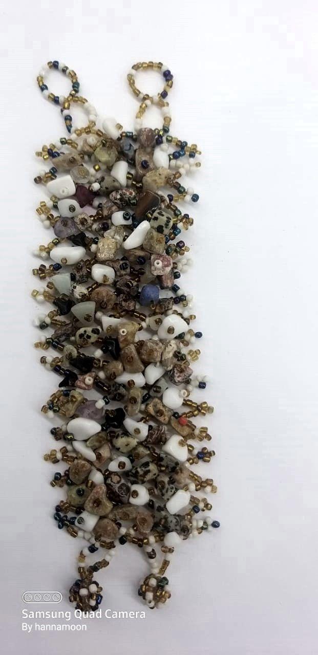 Pulseira Balinesa Beige Stones