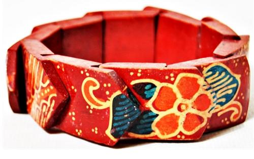 Pulseira Balinesa Woodwork Red Beauty