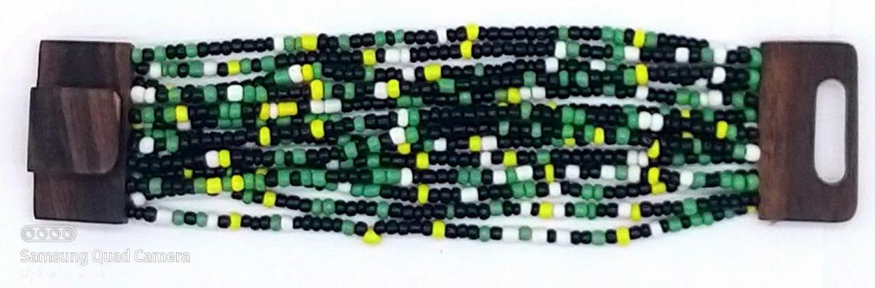 PULSEIRA EM MISSANGA YELLOW GREEN