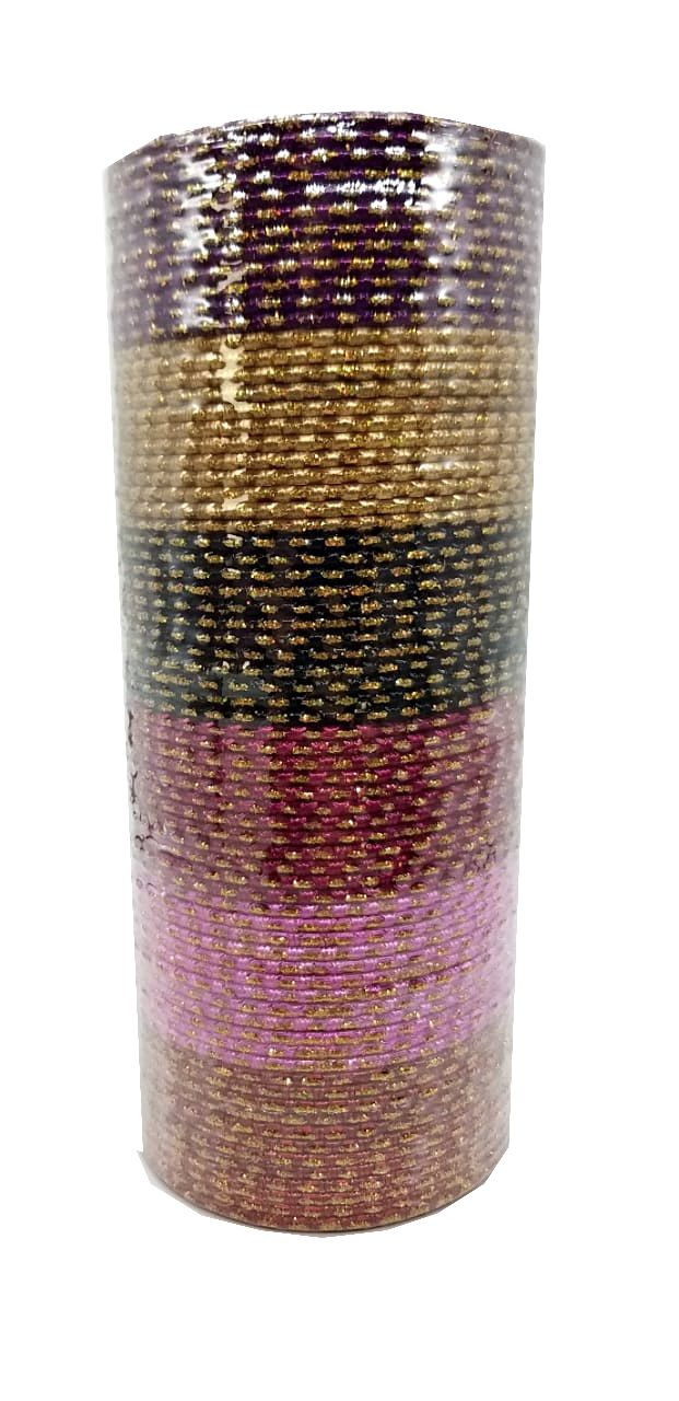 pulseira indiana em metal colorido golden dark
