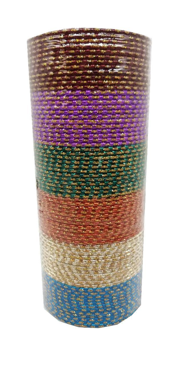 pulseira indiana em metal colorido yellow dots
