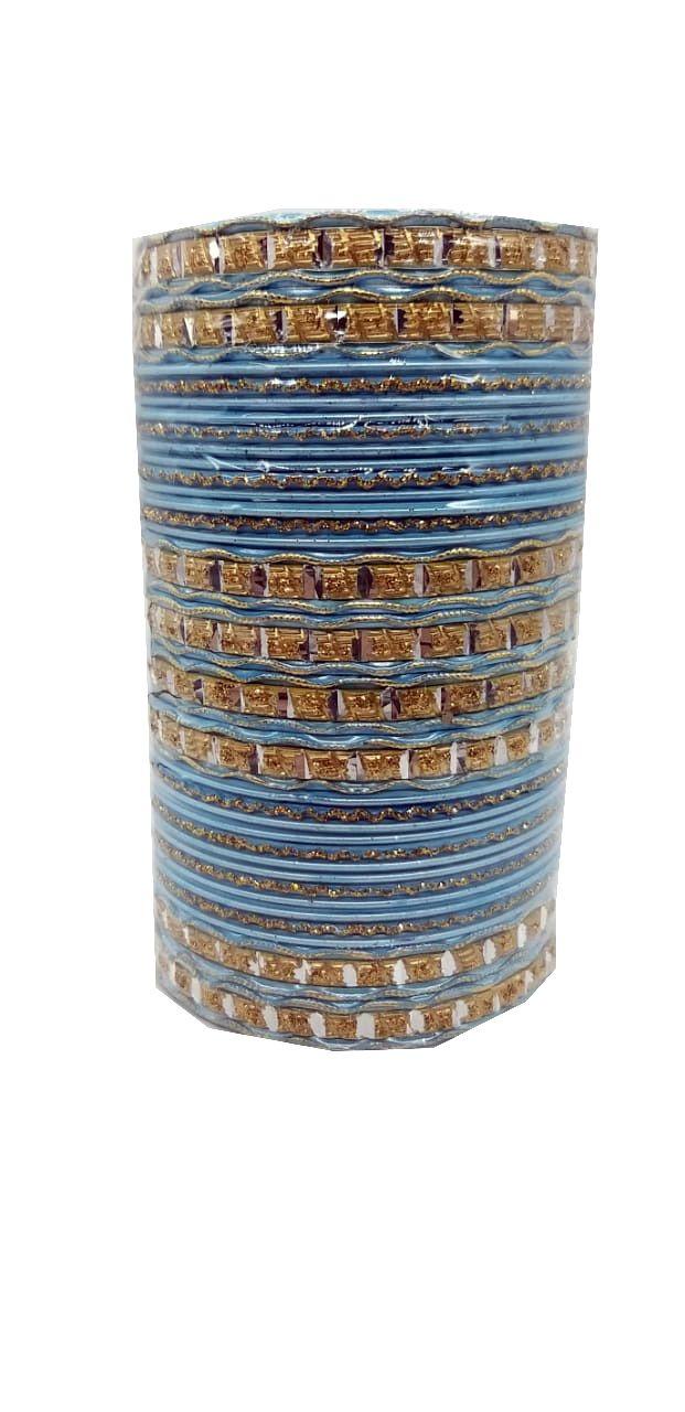 pulseira indiana em metal colorido light blue
