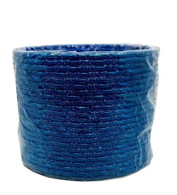 pulseira indiana em metal colorido azul