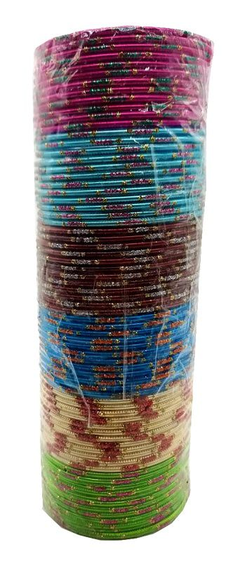 pulseira indiana em metal colorido orange strips