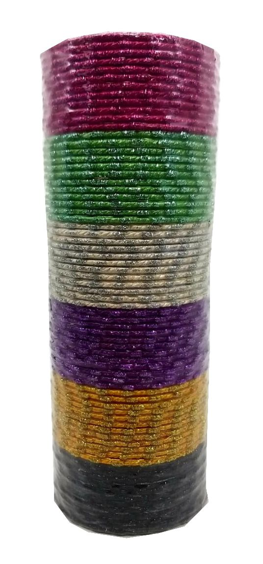 pulseira indiana em metal colorido multi
