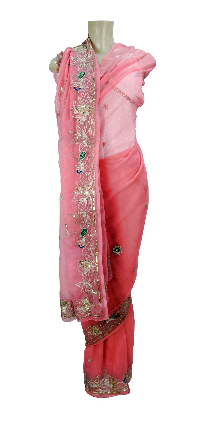 Saree Indiano Golden Flower