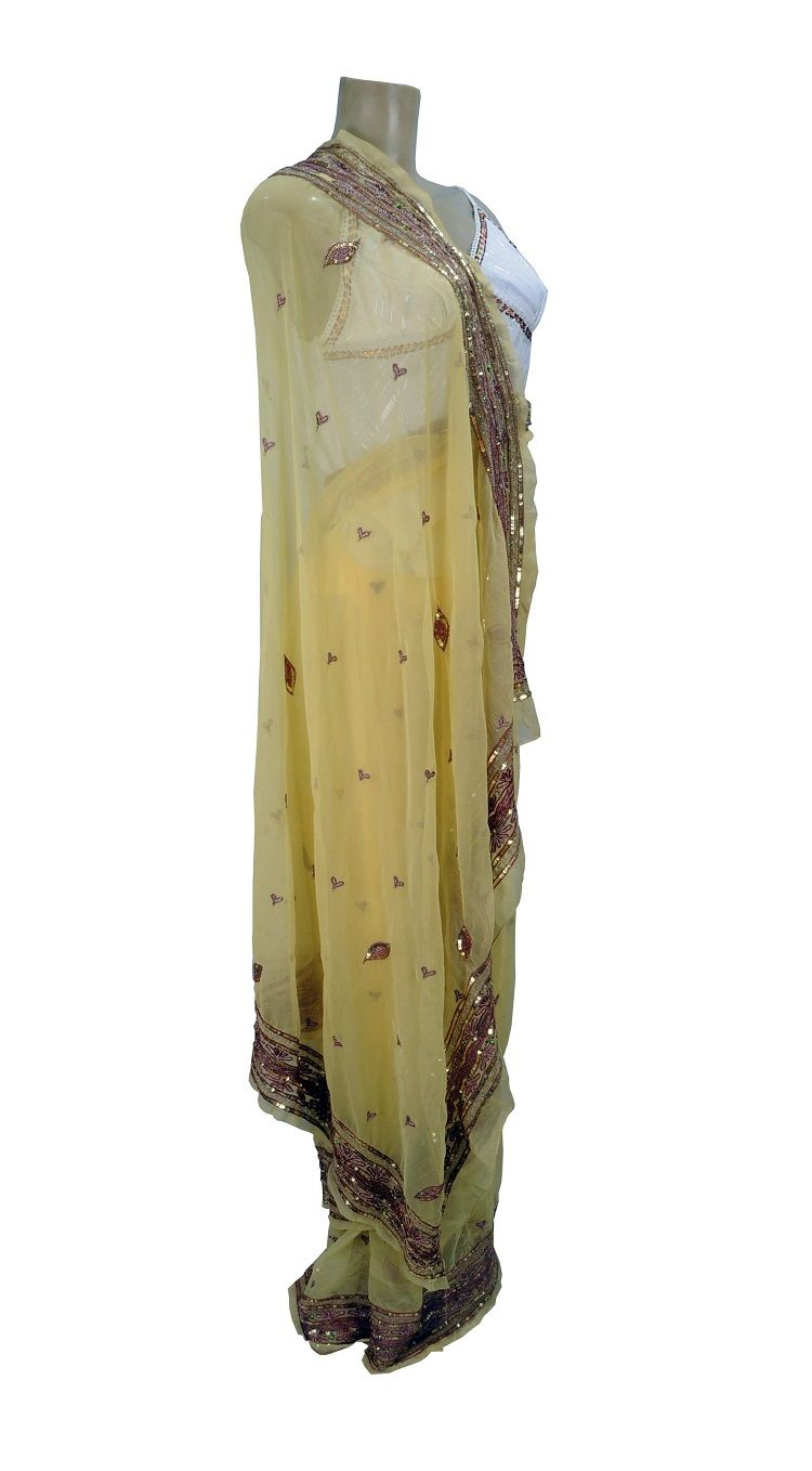 Saree Indiano Golden Heart