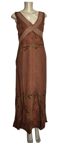 Vestido Indiano estonado  Garden brown